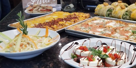 Catering options from Old Town Pizzeria