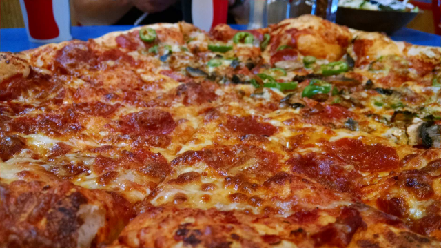 Pepperoni Pizza at Old Town Pizzeria